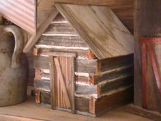 THE PRAIRIE HOUSE PRIMITIVES - I used to build little cabins when I was young enough to use the workshop tools safely.