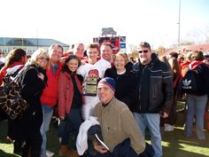Nephew Brad won the MVP in the Thanksgiving Easton/Phillipsburg Football game, here he is with the family