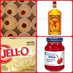 Balls O-Fire Pudding Shots 1 small Pkg. vanilla instant pudding 3/4 Cup Milk 3/4 Cup liquid from Fireball soaked cherries 8oz tub Cool Whip   Directions 1. Whisk together the milk, liquor and instant pudding mix in a bowl until combined. 2. Add cool whip a little at a time with whisk. 3.Spoon the pudding mixture into shot glasses, disposable 'party shot' cups or 1 or 2 ounce cups with lids. 4. Place 1 cherry in each cup. Place in freezer for at least 2 hours