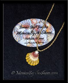 """Country Style"" Multi Colored Hawaiian Sunrise Shell and Puka Shell Twisted Cord Necklace"