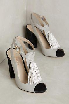 Guilhermina Tassel T-Strap Heels - anthropologie.com Cute Shoes 7d70ca395