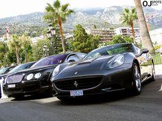 Ferrari California + Bentley Continental Flying Spur by Owen Westerhout
