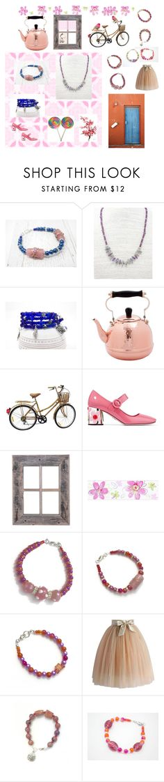 """Grandma's House"" by harikaur-khalsa ❤ liked on Polyvore featuring Old Dutch, Prada, York Wallcoverings and Chicwish"