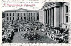 Kristiania - Oslo - Universitetsplassen ved folkeavstemmingen 13.8.1905