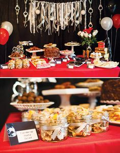50 Shades of Grey Party {Adult Birthday}- handcuffs & ribbons Tie me up pasta