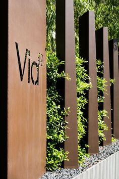 Corten steel logo cutout. We are looking at this material to be mounted on the facade and cutout the client's logo