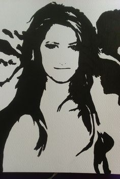 My #artwork of #ashleytisdale #sketch #drawing #portrait #painting #TV #movies #artists #watercolour on my #