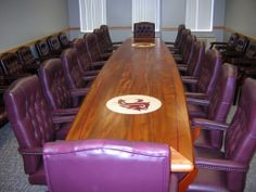 Conference table at WSU made by Neal Burns of Specialty Woods