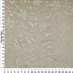 Burn Out Glitter Ivory Fabric