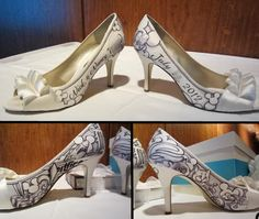 Personalized Disney Shoes For Your Wedding Day!