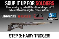 Soup it up for Soldiers Customize Ruger 10/22 trigger group