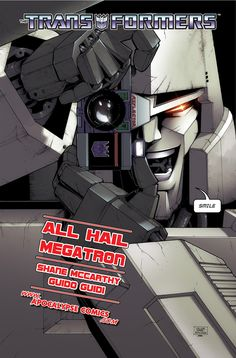 AHM 1 cover Apocalypse Comics by ~Caliber316 on deviantART - Megatron and Reflector - Decepticon Transformers