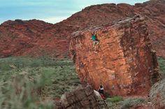 Cube Boulder at Kraft Mountain, Las Vegas, Nevada