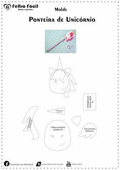 Felt Unicorn Pencil Tip Mold - Molde de feltro facil
