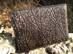 Hippo skin hide wallet in charcoal color real genuine!!