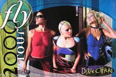 DIXIE CHICKS 2000 FLY TOUR PROMO POSTER