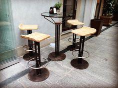 Bar terrae miscellanea  #outsidedesign #progect #designproject #metal #steel #glass #inox #stools #glasstables #design #handmadedesign #architecture #architect #archilovers #designboom #designers #dezeen #bar #pinerolo #turin #italy #italiandesign