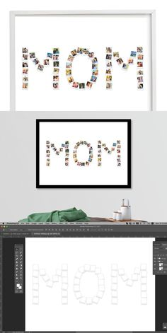 Photo Collage Template, Stationery Templates, Photo Art, Photoshop