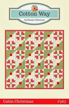 Cotton Way: 6 New April Showers Patterns - It's a great day here at Cotton Way!  CABIN CHRISTMAS