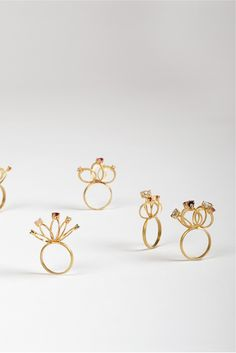 Marc Monzó   -  Microrings/rings/2005-07/18k gold, synthetic stones/25x40mm
