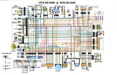 wirediagram jpg 750 552 wiring diagram yamaha pinterest diagram rh pinterest com 1982 Yamaha Maxim 1100 Parts 1982 yamaha xj1100 wiring diagram