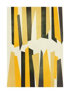Black and Yellow Stalactites by Lucrecia for Minted