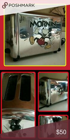 Vintage Villaware Disney Toaster PLEASE READ CAREFULLY!? THIS IS A USED ITEM.? PLEASE REFER TO ACTUAL PHOTOS FOR COSMETICS.? THIS ITEM IS IN A 8 OUT OF 10 CONDITION.?  PLEASE ASK QUESTIONS BEFORE PURCHASING.?  DISNEY/Mickey Mouse collector item! Disney Other