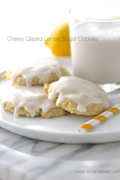 Chewy Glazed Lemon Sugar Cookies - Laurens Latest