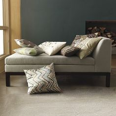 I love the Lorimer Chaise - Dove Gray on westelm.com