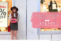 We took Miami with some of our favorite #bloggers! Meet Steffy from Steffy's Pros and Cons!