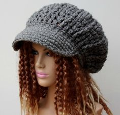 Slouchy Newsboy Visor Tam Gray or you choose by PurpleSageDesignz, $25.00