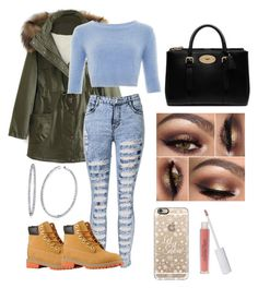 school outfit by itspaying on Polyvore featuring polyvore fashion style WithChic Mulberry BERRICLE Casetify W3LL People Timberland women's clothing women's fashion women female woman misses juniors
