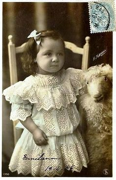 Vintage Postcard ~ Little Girl