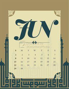 Our June 2014 calendar.