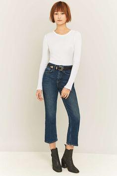 BDG Dark Vintage Blue Kick Flare Jeans