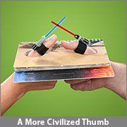 Star Wars Lightsaber Thumb Wrestling --- WANT!!!
