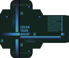 Plano Hiërarchie 1 - Door het gebruik van donkere blauwgroene kleuren tot lichtere kleuren naar binnen toe wordt er echt een focus gecreëerd op de titel van de doos. Ook het vervagende effect was hier aanwezig.
