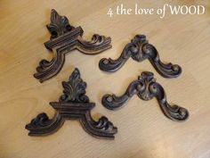 making wood appliques from decorative plastic wall art