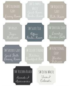 ideas house interior paint schemes for 2019 Interior Paint Colors, Paint Colors For Home, Paint Colours, House Color Schemes Interior, Interior Painting, Farmhouse Paint Colors, Farmhouse Decor, Office Paint Colors, House Paint Interior