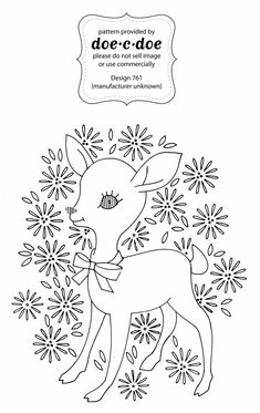 Doe C Thursday Embroidery Pattern