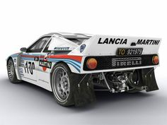 Lancia Stratos 037 1983 driven by Walter Röhrl and Marku Alen, second and third in the World Rallye Championchip WRC.