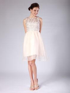 Lace Organza Bridesmaid Dress