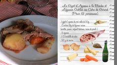 Le Gigot d'Agneau à la Broche et Légumes Oubliés au Cidre de Gérard Cotentin  Partir à la découverte d'une région, parcourir son histoire à travers une recette ancestrale, typique, pour mieux comprendre ses spécificités et ses richesses. Telle est l'aventure que nous allons partager avec Julie Andrieu qui va sillonner les routes de France. Les carnets de Julie - France 3