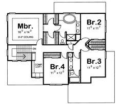 Upper/Second Floor Plan 10-1041