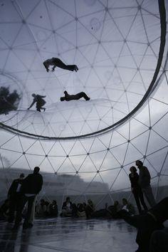 cloud cities / tomas saraceno / omgggg buckminster fuller bouncy house
