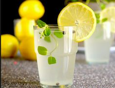 Aloe vera and lemon juice drink. Just add honey. Refreshing and full of benefits!