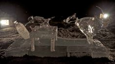"""""""Fast Food"""" Spanish entry in the 2011 World Ice Art Championships."""
