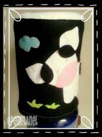 Water Gallon Cover. Felt. Handmade. Cow Applique.