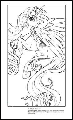 My Little Pony Princess Celestia Coloring Pages   Team colors