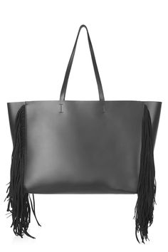 Photo 1 of Premium Leather Tassel Tote